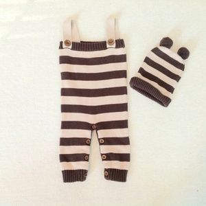 CUTE-TURE Baby Overalls and Hat